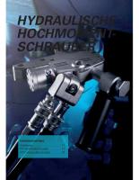 Hydraulische Drehmomentschrauber RT/RTX